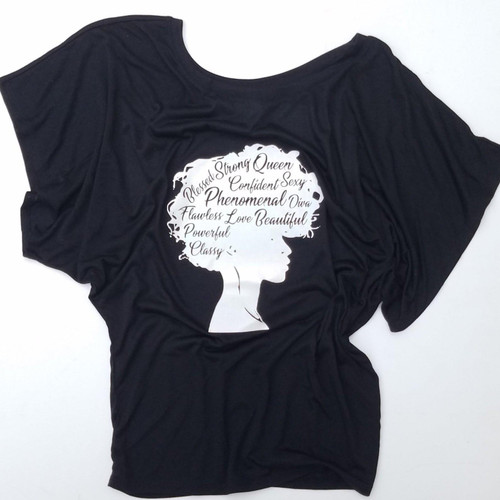 Off The Shoulder Dolman Top Beautiful Strong Phenomenal Afro Woman