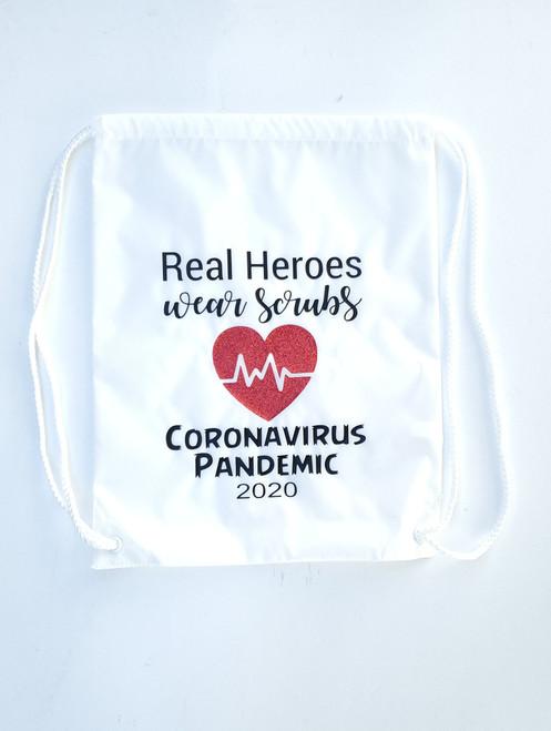 Real Heroes Wear Scrubs Backpack
