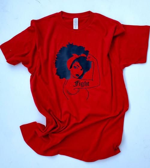 Afro Rosie The Riveter FightT-Shirt