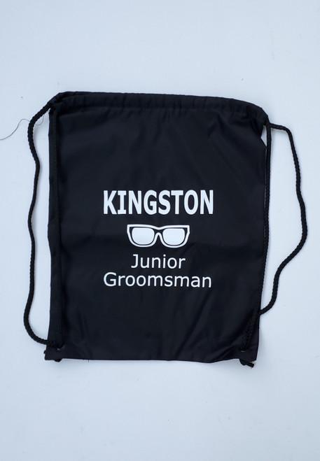 Personalized Junior Groomsman Drawstring Backpack