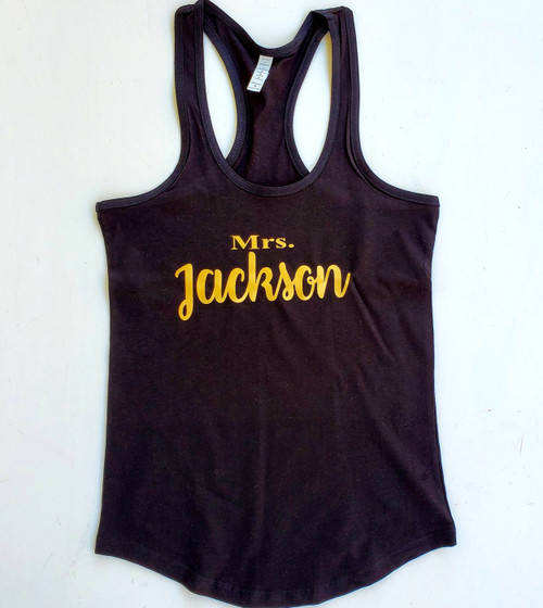 Personalized Mrs Tank Top