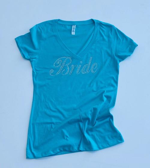 Bride Rhinestone Tahiti Blue Shirt