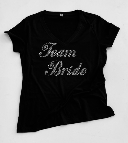 Team Bride Script Rhinestone Shirt