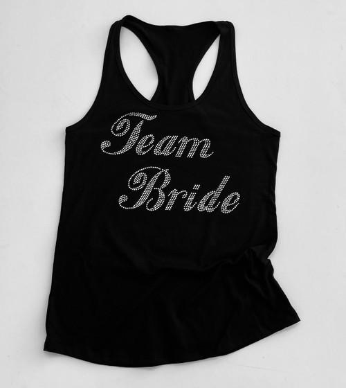 Team Bride Script Rhinestone Tank Top