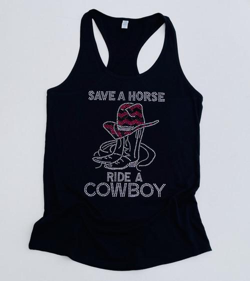 Save A Horse Ride A Cowboy Tank Top