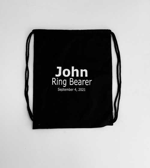 Personalized Ring Bearer Drawstring Backpack