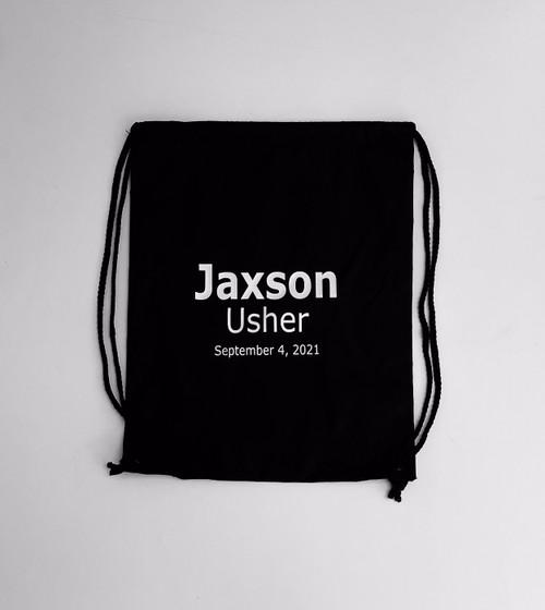 Personalized Usher Drawstring backpack