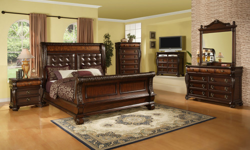 Queen Headboard 68 x 10 x 68  Dresser 64 x 20 x 40 Mirror 48 x 3 x 52 Chest 40 x 20 x 55 Nightstand 32 x 20 x 30