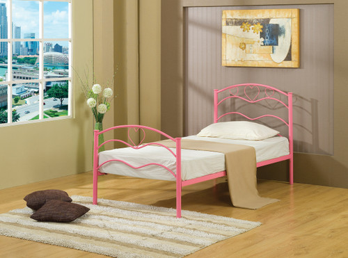 Love-pink Twin bed