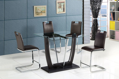 CRYSTAL 5PC PUB DINING SET