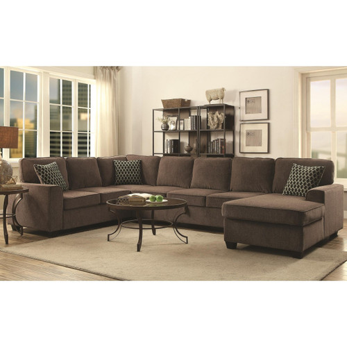 PROVENCE SECTIONAL BROWN CHENILLE