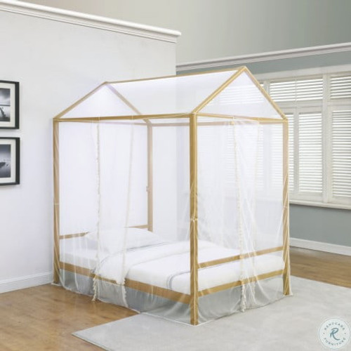 Altadena led canopy twin bed