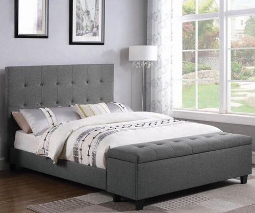 Halpert Upholstered queen size bed