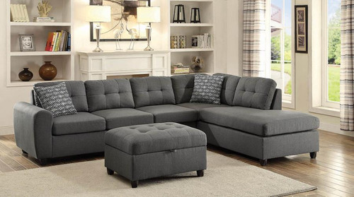 Stonenesse Sectional in Grey Linen-like