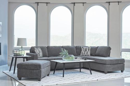 Mccord Sectional Dark Grey Chenille