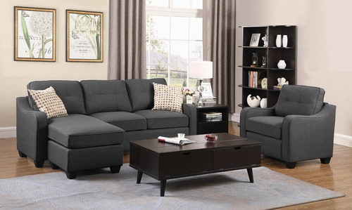 Nicolette Sectional Dark Grey Linen-like