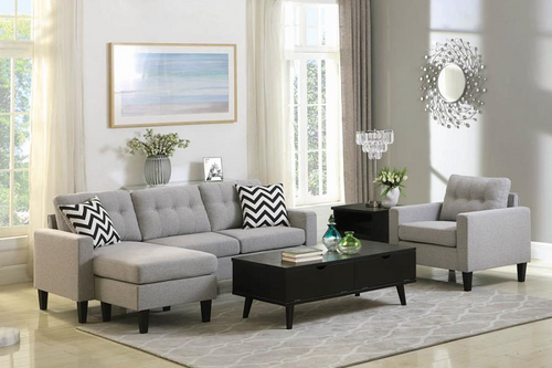 Metro Sectional Light Grey