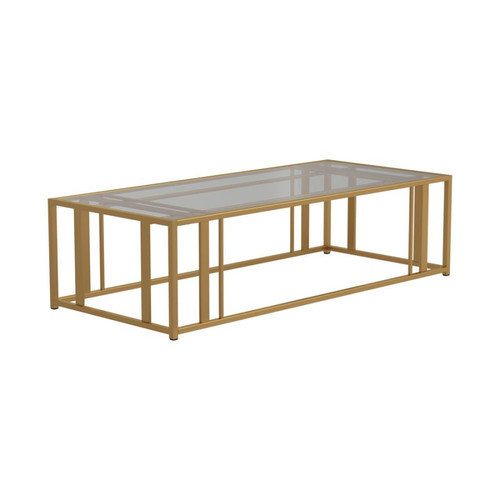 Matte brass coffee table
