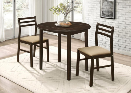 3 pc. Dining Set Cappuccino