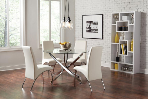 BECKHAM 5 PC. ROUND DINING SET