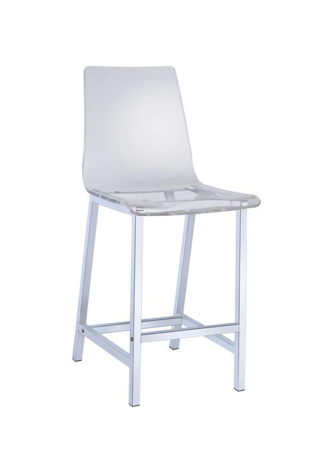 Acrylic counter height stool