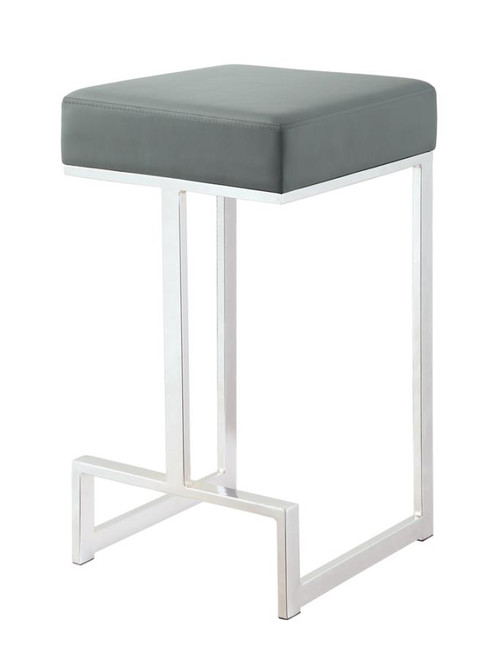 Backless counter height stool (grey)