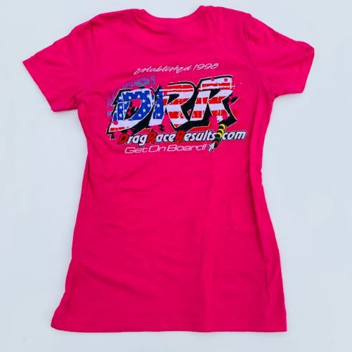 raspberry pink ladies racing t shirt