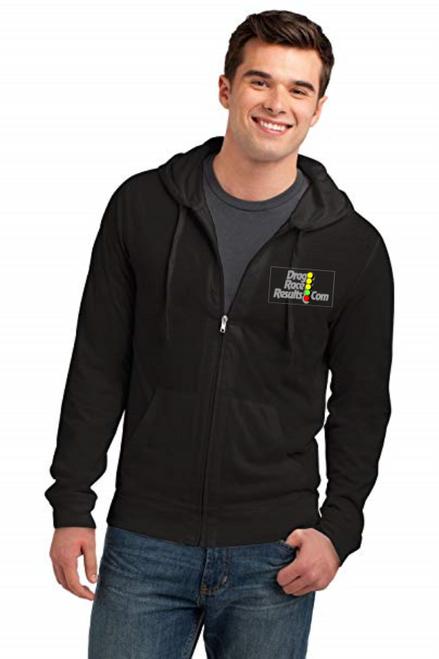 drr black full zip hoodie