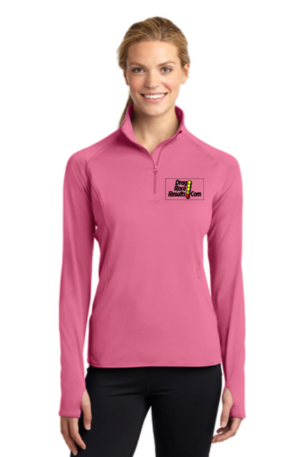 ladies dusty rose sport-tek pullover