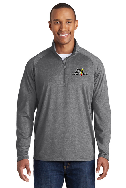 sport-tek charcoal heather racing pullover