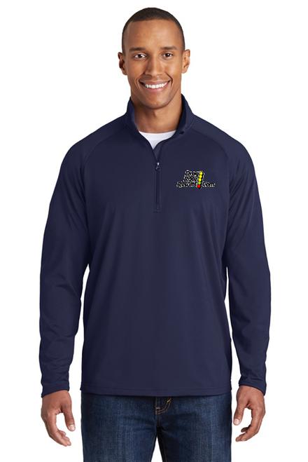 navy sport-tek racing pullover