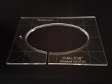 "3/8"" Quilting Template Oval 4.5"" x 7.5"