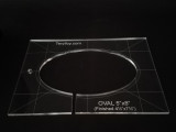 """1/4"""" Quilting Template Oval  4.5"""" x 7.5"""""""