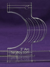 """3/8"""" Quilting Template Arc 3"""""""