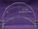 """3/8"""" Quilting Template Arc 6"""""""
