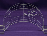 "1/4"" Quilting Template Arc 6"""