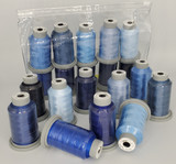"Glide Thread ""Bag of Blues"" Collection of 10 Spools"