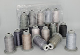 "Glide Thread ""Bag of Greys"" Collection x 10 Spools"