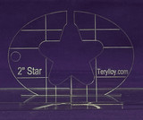 "1/4"" Quilting Template Star 2"""