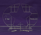 "1/4"" Quilting Template Star 3"""