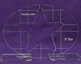 """1/4"""" Quilting Template Star 5"""""""