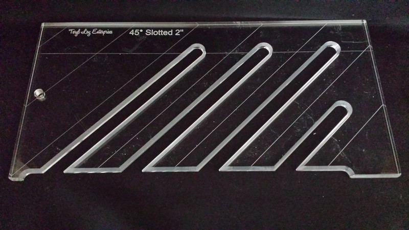 "45' Slotted Ruler, 2"" spacing, 1/4"" thick, Medium"