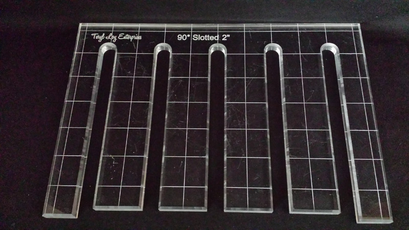 "1/4"" Template, 90' Slotted Ruler, 2"" slot spacing, Medium slot width"