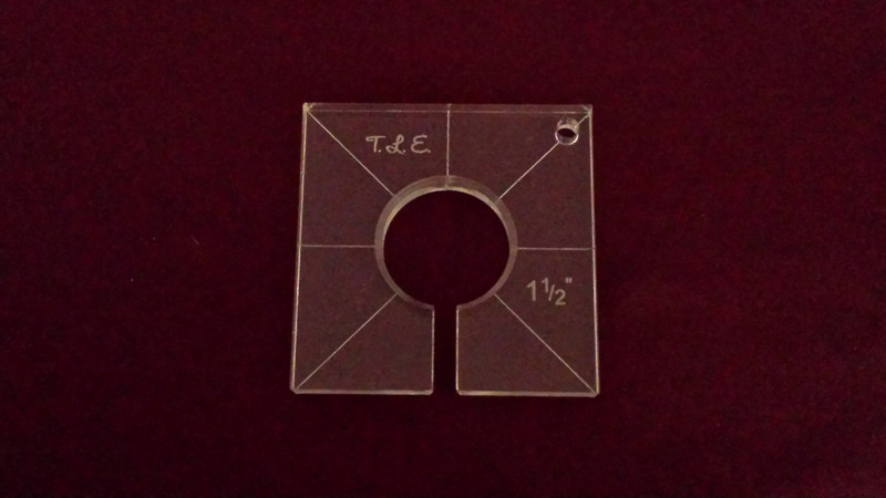 Inside Circle Template, 1-1/2 inch diameter