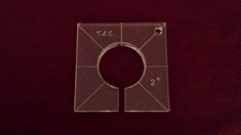 Inside Circle Template, 2 inch diameter