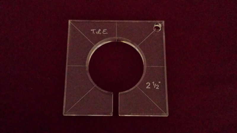 Inside Circle Template, 2-1/2 inch diameter