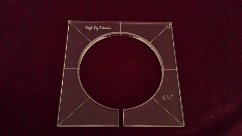 Inside Circle Template, 5-1/2 inch diameter