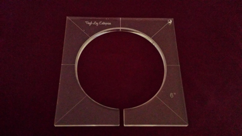 Inside Circle Template, 6 inch diameter