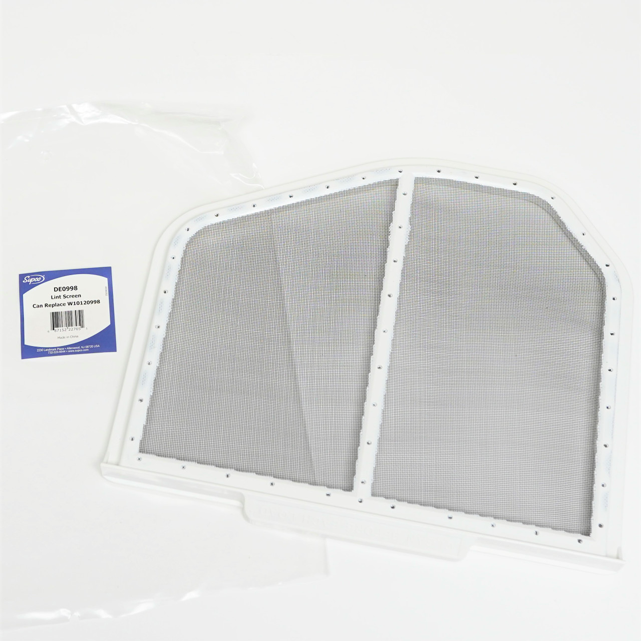2-Pack W10120998 Dryer Lint Screen Replacement for Whirlpool GEQ9800PW1 Compatible with 8066170 Lint Screen Filter Catcher