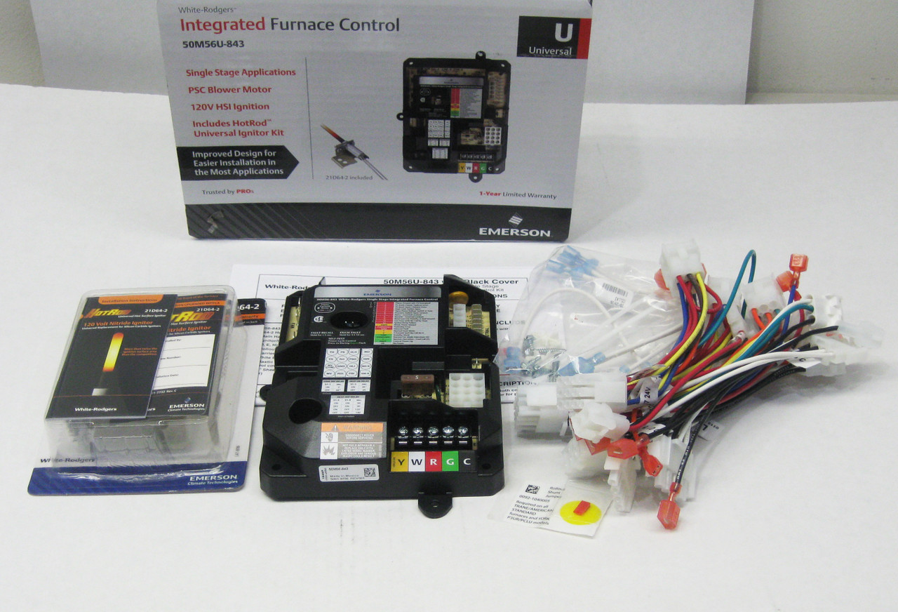 White-Rodgers Furnace Control Module Kit | McCombs Supply | 50M56U-843 | White Rodgers Ignition Control Wiring Diagram |  | McCombs Supply